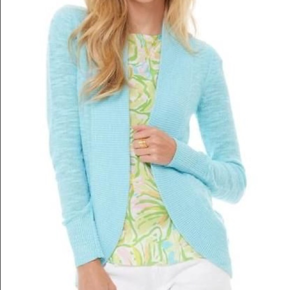 Lilly Pulitzer Sweaters - Lilly Pulitzer Amalie cardigan light blue size L